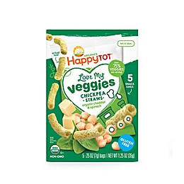Happy Baby™ Happy Tot™ 5-Pack Love My Veggies Chickpea Straws in Organic Cheddar and Spinach