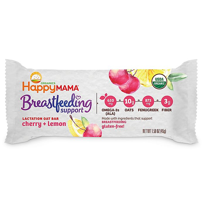 Alternate image 1 for Happy Baby™ Happy Mama™ Breastfeeding Support Lactation Oat Bar in Lemon and Cherry