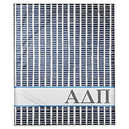 Designs Direct Alpha Delta Pi Squares Throw Blanket in Blue