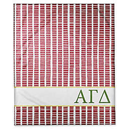 Designs Direct Alpha Gamma Delta Squares Throw Blanket in Red