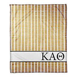 Designs Direct Kappa Alpha Theta Squares Throw Blanket in Yellow