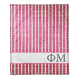 Designs Direct Phi Mu Squares Throw Blanket in Pink