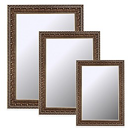 Hitchcock-Butterfield Vintage Pacific Waves Wall Mirror in Bronze/Gold