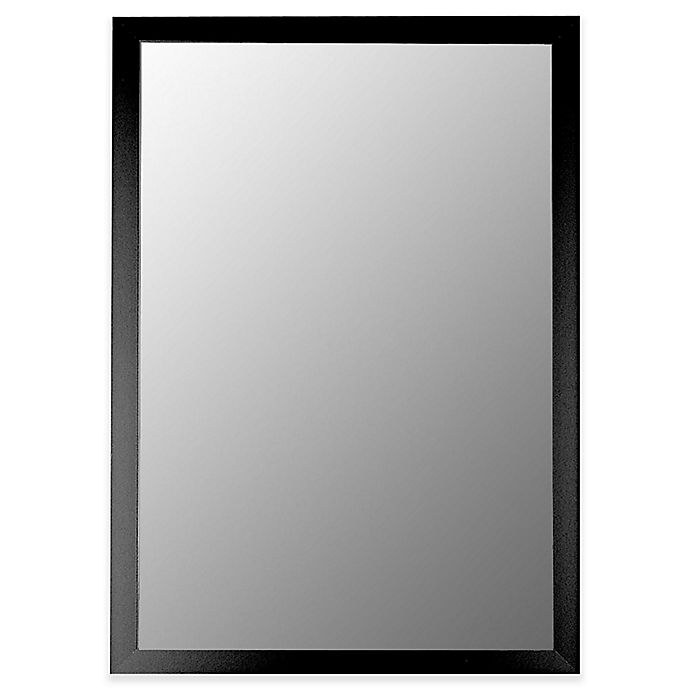Alternate image 1 for Hitchcock-Butterfield Modern 22-Inch x 58-Inch Wall Mirror in Matte Black