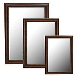 Hitchcock-Butterfield Polynesian Wall Mirror in Coco Brown/Gold