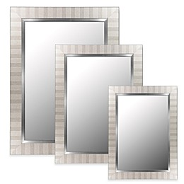 Hitchcock-Butterfield Parma Wall Mirror in Silver/Satin Nickel