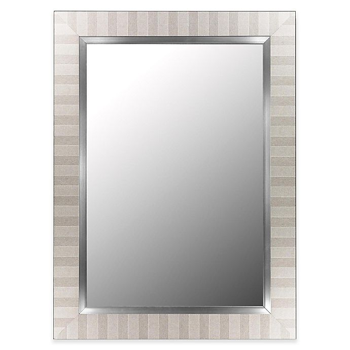 Alternate image 1 for Hitchcock-Butterfield 26-Inch x 62-Inch Parma Wall Mirror in Silver/Satin Nickel