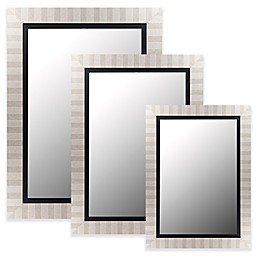 Hitchcock-Butterfield Parma Wall Mirror in Silver/Satin Black