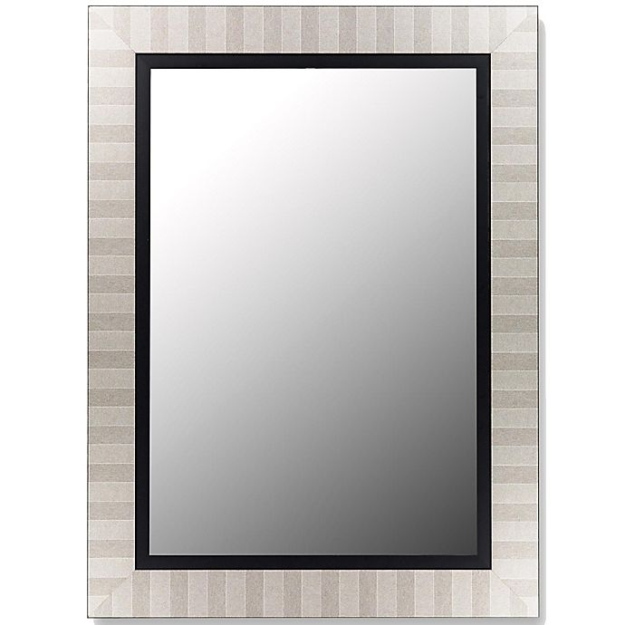 Alternate image 1 for Hitchcock-Butterfield 26-Inch x 62-Inch Parma Wall Mirror in Silver/Satin Black