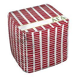 Designs Direct Alpha Gamma Delta Squares Ottoman in Red