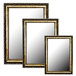 Hitchcock-Butterfield Roman Beaded Mirror in Black/Gold