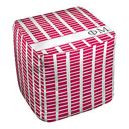 Designs Direct Phi Mu Squares Ottoman in Pink