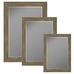 Hitchcock-Butterfield Weathered Barnwood Wall Mirror in Sand