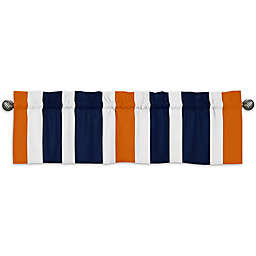 Sweet Jojo Designs Navy and Orange Stripe Window Valance