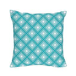 Sweet Jojo Designs Mod Elephant Throw Pillows in Turquoise/White (Set of 2)