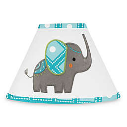 Sweet Jojo Designs Mod Elephant Lamp Shade in Turquoise/White