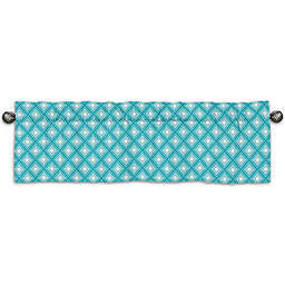 Sweet Jojo Designs Mod Elephant Window Valance in Turquoise/White