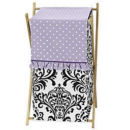 Sweet Jojo Designs Sloane Hamper in Lavender/White