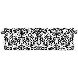 Sweet Jojo Designs Sloane Damask Window Valance in Black/White