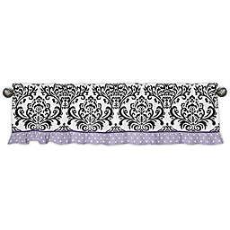 Sweet Jojo Designs Sloane Damask Dot Window Valance in Purple/White