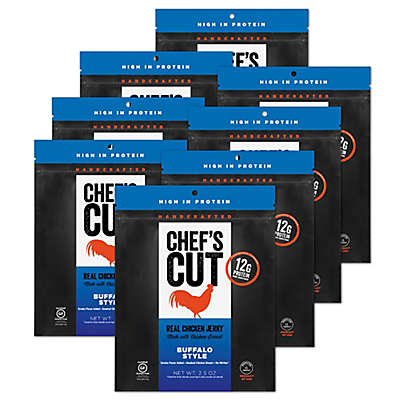 Chef's Cut Real Chicken Jerky 8-Pack in Buffalo Style