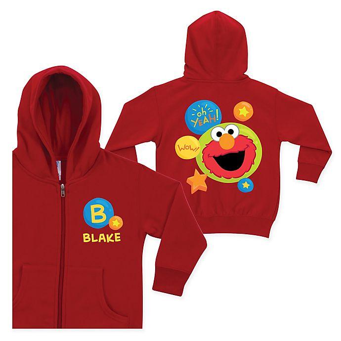 Alternate image 1 for Sesame Street Wow Elmo Full-Zip Hoodie in Red