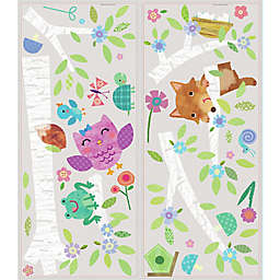 York Wallcoverings Woodland Baby Birch Tree Peel and Stick Giant Wall Decals (Set of 27)