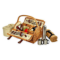 Picnic At Ascot Sussex Picnic Basket for 2 with Blanket and Coffee Set