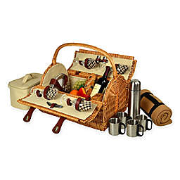 Picnic at Ascot Yorkshire Picnic Basket for 4 with Coffee Service and Blanket