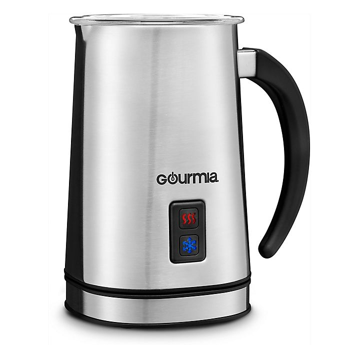 Alternate image 1 for Gourmia 8.5-oz. Cordless Electric Milk Frother/Heater in Stainless Steel