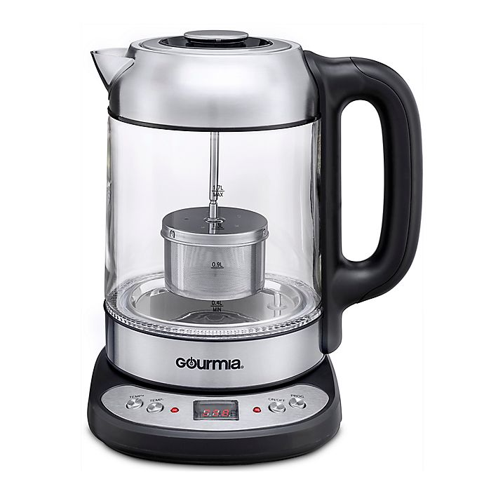 Gourmia 174 Electric Glass Tea Kettle With Infuser Bed Bath