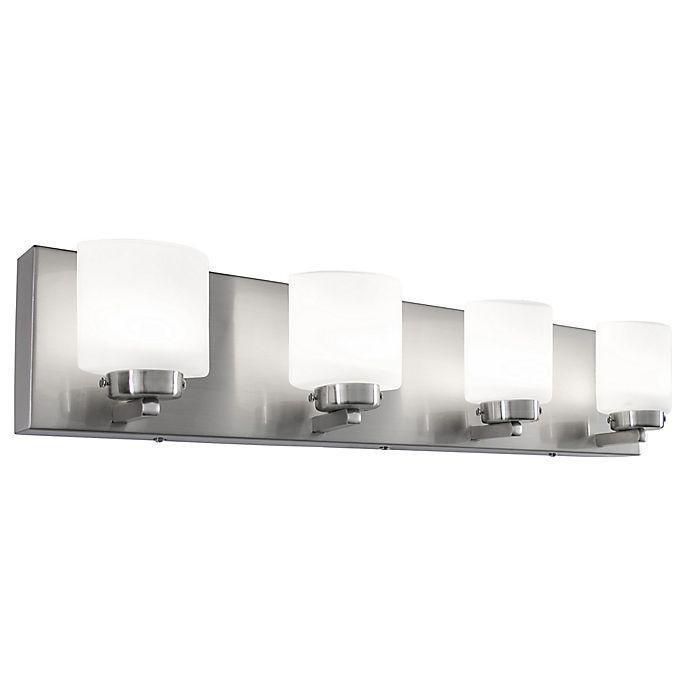 Bathroom Light Fixture Cleaning: Rogue Décor Company Clean Vanity Light In Satin Nickel