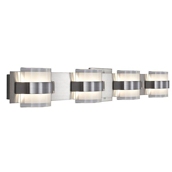 rogue d cor company restraint vanity light in polished chrome bed bath beyond. Black Bedroom Furniture Sets. Home Design Ideas