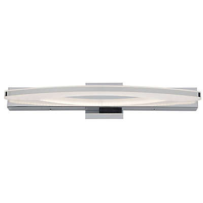 Rogue Décor Sydney Wall-Mount LED Bath Fixture in Chrome with Glass Shade