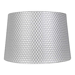 Mix & Match Large Textured Drum Lamp Shade in Grey