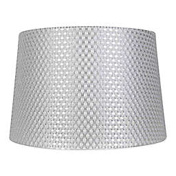 285fc9f2a843 Mix & Match Large Textured Drum Lamp Shade in Grey