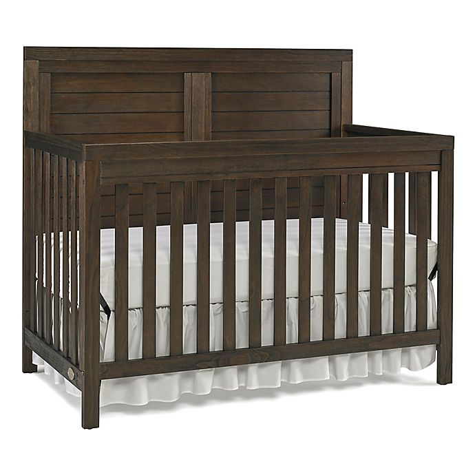 Alternate image 1 for Ti Amo Castello Full Panel Convertible Crib in Weathered Brown