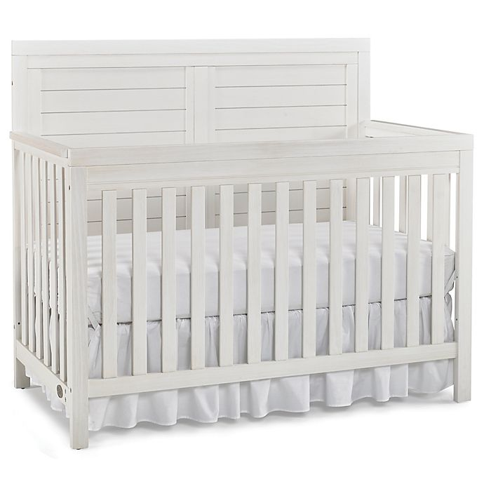 Alternate image 1 for Ti Amo Castello Full Panel Convertible Crib in Weathered Seashell