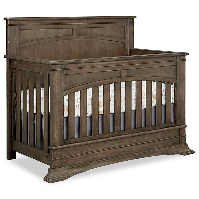 Alternate image 1 for BassettBaby® Premier Emerson 4-in-1 Convertible Crib in Heron Grey