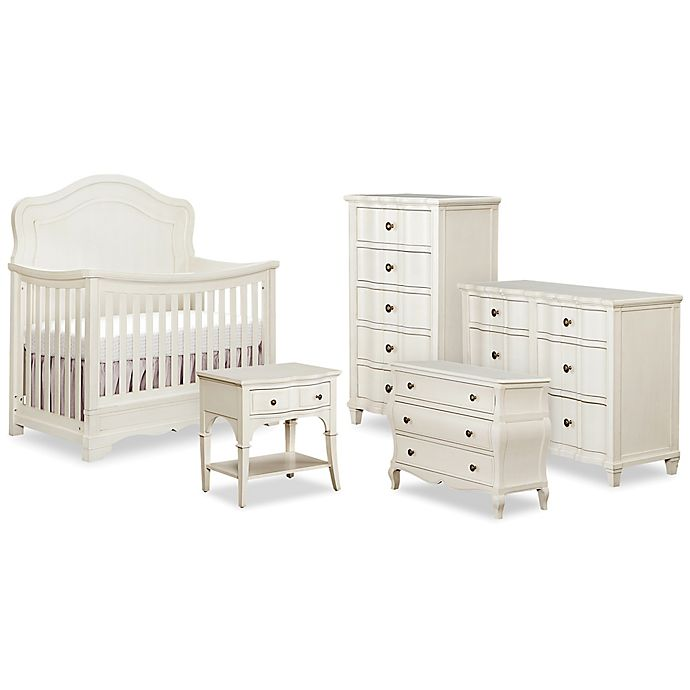 Bettbaby Premier Seraphina Nursery Furniture Collection In Vintage White