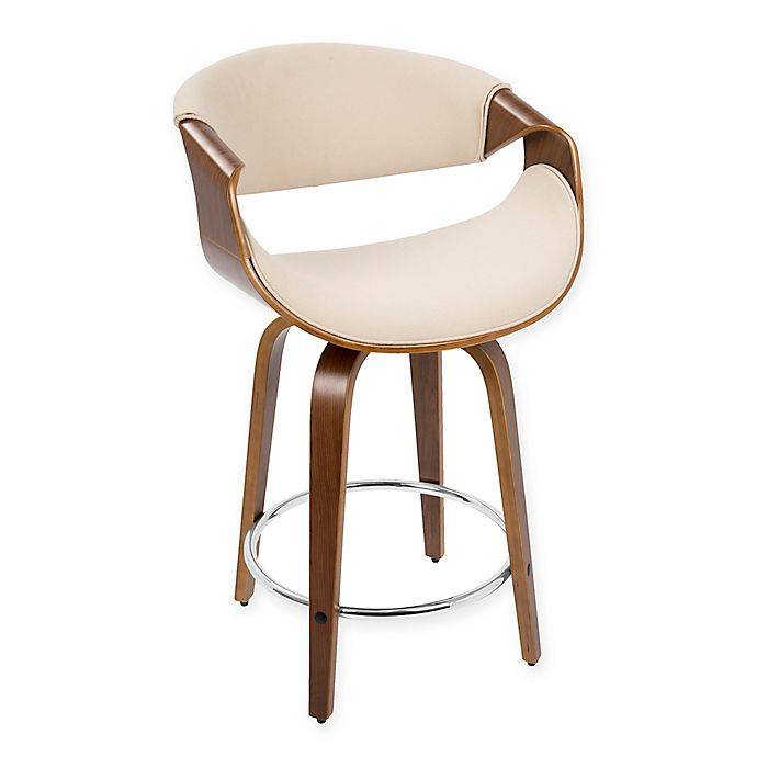 A Shapely Swivel Seat Inspired By Mid Century Design Our: LumiSource Mid-Century Modern Curvini Stools (Set Of 2