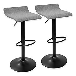 LumiSource Ale XL Bar Stools in Black (Set of 2)