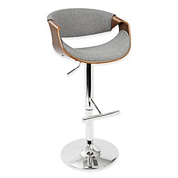 LumiSource Curvo Bar Stool in Grey