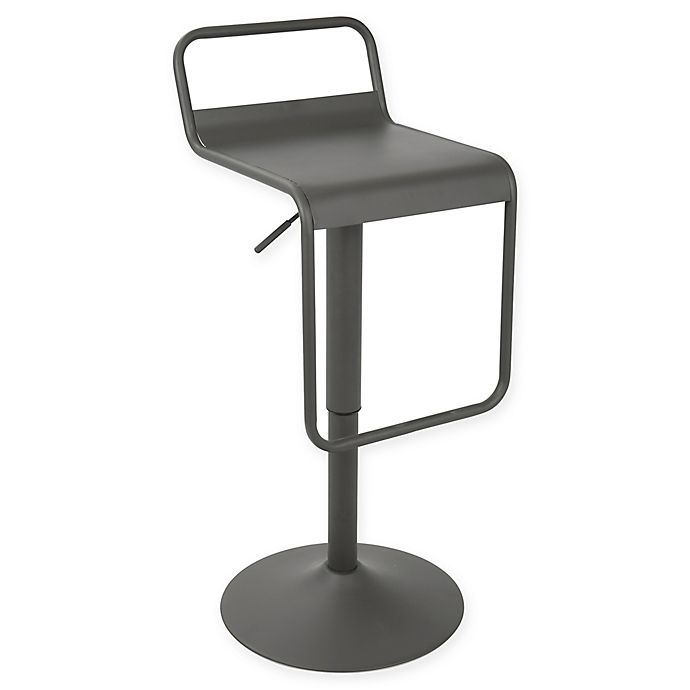 Lumisource Emery Uptown Bar Stool In Grey Bed Bath Amp Beyond