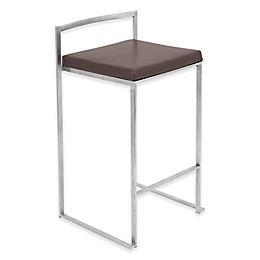 LumiSource Fuji Counter Stool in Brown (Set of 2)
