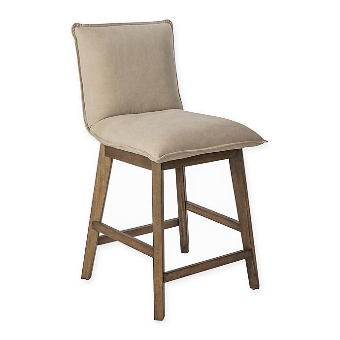 Prime Ink Ivy Kendall 24 Inch Counter Stool In Tan Light Grey Caraccident5 Cool Chair Designs And Ideas Caraccident5Info