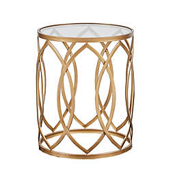 Madison Park Arlo Accent Table in Gold