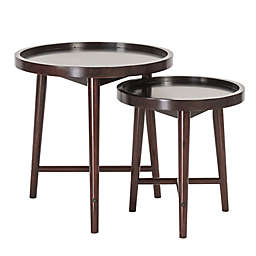 Madison Park Intersect Nesting Tables in Ebony (Set of 2)