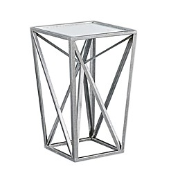 Madison Park Zee Accent Table in Silver