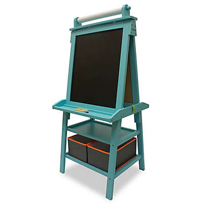 Little Partners Deluxe Learn and Play Art Center Easel in Turquoise